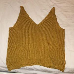 Mustard knit tank
